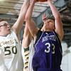 2-20-15<br /> Eastern vs Northwestern basketball<br /> Northwestern's Derek Doubet shoots.<br /> Kelly Lafferty Gerber   Kokomo Tribune