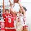 2-26-15<br /> Taylor vs Maconaquah basketball<br /> Taylor's Malin Vazquez shoots.<br /> Kelly Lafferty Gerber | Kokomo Tribune