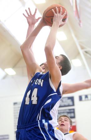 2-24-15<br /> Tipton vs Cass basketball<br /> Tipton's Trent Seward shoots.<br /> Kelly Lafferty Gerber | Kokomo Tribune