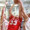 2-26-15<br /> Taylor vs Maconaquah basketball<br /> Maconaquah's Wyatt Hughes shoots.<br /> Kelly Lafferty Gerber | Kokomo Tribune