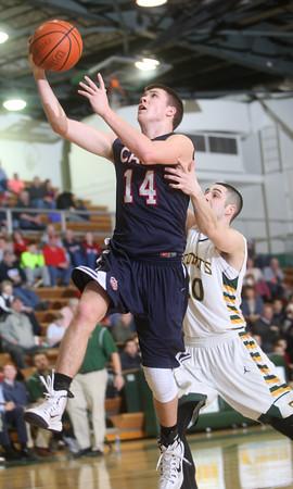2-12-15<br /> Eastern vs Cass basketball<br /> Cass' Ryan Bixler shoots as Eastern's Noah Cope tries to block him.<br /> Kelly Lafferty Gerber | Kokomo Tribune