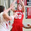 2-26-15<br /> Taylor vs Maconaquah basketball<br /> Maconaquah's Bryce Pond shoots.<br /> Kelly Lafferty Gerber | Kokomo Tribune