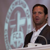 St. Louis Cardinals manager Mike Matheny speaks at the Keller Convention Center for a Fellowship of Christian Athletes luncheon.