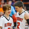 Altamont's Brandon Hosick (right) talks to teammate Brandon Hanson (left) during the fourth quarter.