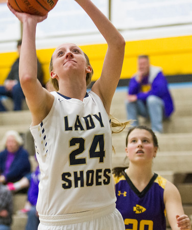 Teutopolis' Macy Michels goes up for the easy basket during Class 2A Cumberland Regional semifinal contest against Casey-Westfield.