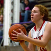 Effingham sophomore Natalie Carie has time to eye the basket from three-point range against Lincoln.