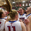 The St. Anthony Lady Bulldogs celebrate beating Altamont for the Class 1A St. Anthony Regional title.