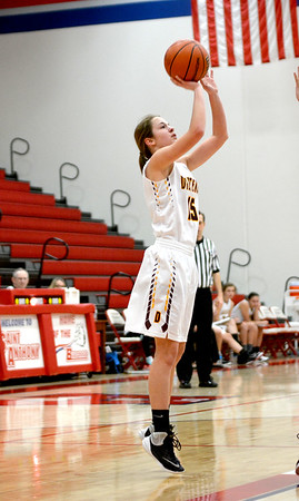 Dieterich's Jennifer Robards shoots a short jumper during a win over Pal-Hut at the Class 1A St. Anthony Regional. Robards led all scorers with 16 points.