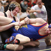 2-1-14<br /> Sectional Wrestling<br /> Western's Caleb Maddox and Kokomo's AJ Nelson in the 120<br /> KT photo | Kelly Lafferty