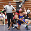 2-1-14<br /> Sectional Wrestling<br /> Kokomo's Chad Gaddis and Taylor's Kaleil Rucker in the 152<br /> KT photo | Kelly Lafferty