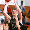 2-7-14<br /> Cass vs. Peru basketball<br /> Peru's Seth Adelsperger goes for the basket.<br /> KT photo | Kelly Lafferty