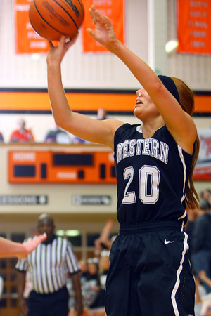 3-1-14  ---  Semi State girls basketball between Western HS and Norwell HS with western winning 41-31. -- <br /> KT photo | Tim Bath