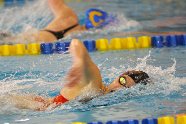 2-8-14   ---<br /> girls sectional swimming<br /> Summer brown swimming the 500 free.<br /> -- <br />   KT photo | Tim Bath