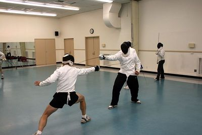 Epee fight