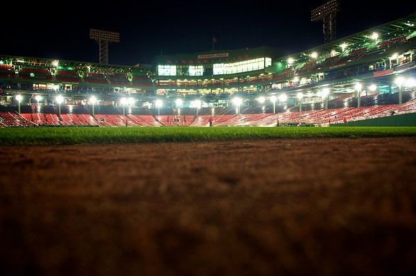 Fenway after dark. A rare view of one of my favorite places. 9/18/10