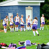 Monty Tech runs drills to warm up before their game during Saturday's Field Hockey Play Day at St. Bernard's in Fitchburg.<br /> SENTINEL & ENTERPRISE / BRETT CRAWFORD