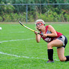 Fitchburg's Bryanna Morey hits the ball upfield during Saturday's Field Hockey Play Day game against North Middlesex at St. Bernard's in Fitchburg.<br /> SENTINEL & ENTERPRISE / BRETT CRAWFORD
