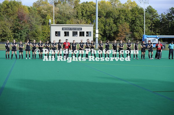 04 November 2010:  Davidson defeats Pacific 2-1 in NorPac field hockey action at Belk Turf Field in Davidson, North Carolina.