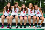 10 August 2012: Davidson women's field hockey poses for team pictures at Belk Turf Field in Davidson, North Carolina.