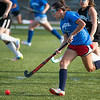 Lunenburg's Becca Handy makes her way upfield during the Fast Break Field Hockey Summer League Championship Game at Doyle Field. SENTINEL&ENTERPRISE/ Jim Marabello