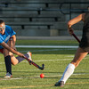 Lunenburg's Becca Handy lets a shot go against Oakmont's Maddie Moran in the Fast Break Field Hockey Summer League Championship Game at Doyle Field. SENTINEL&ENTERPRISE/ Jim Marabello