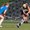 Oakmont's Audrey Dolan moves her way upfield against Lunenburg during the Fast Break Field Hockey Summer League Championship Game at Doyle Field. SENTINEL&ENTERPRISE/ Jim Marabello