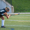 Maddie Moran lets fly with a penalty shot that was Oakmont's 2nd goal of the game during the Fast Break Field Hockey Summer League Championship Game at Doyle Field. SENTINEL&ENTERPRISE/ Jim Marabello