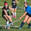 Oakmont's Taylor Ladue runs into Lunenburg's Sophie Shapiro in the Fast Break Field Hockey Summer League Championship Game at Doyle Field. SENTINEL&ENTERPRISE/ Jim Marabello