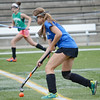 Leominster's Lauren Fleming travels upfield during the Fast Break field hockey league championship at Doyle Field on Tuesday evening against Oakmont. SENTINEL & ENTERPRISE / Ashley Green