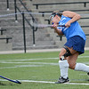 Leominster's Meghan Fontaine takes a shot during the Fast Break field hockey league championship at Doyle Field on Tuesday evening against Oakmont. SENTINEL & ENTERPRISE / Ashley Green