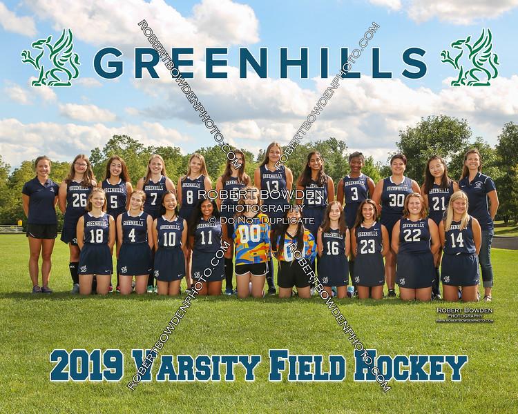 Greenhills Field HockeyTeam 8x10 2019