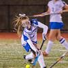 Lunenburg's Rachel Drasser hits the ball during the 1-0 victory over Nipmuc on Tuesday evening from Grafton High. SENTINEL & ENTERPRISE / Ashley Green