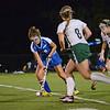 Lunenburg's Kate Carignan takes on the Oakmont defense in the 5-2 Oakmont victory on Wednesday evening. SENTINEL & ENTERPRISE / Ashley Green