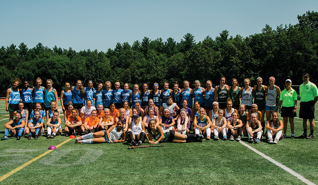 . The 4th annual Play Day for Michelle Farnsworth field hockey tournament was held at Nashoba Regional High School on Friday, July 21, 2017. 15-year-old Farnsworth was a Nashoba sophomore when she lost her battle with rhabdomyosarcoma on January 13, 2015. SENTINEL & ENTERPRISE / Ashley Green