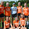 """Michelle's Tournament"" was held at Nashoba Regional High School on Saturday afternoon to fundraise for 15-year-old sophomore Michelle Farnsworth, who is currently battling Rhabdomyosarcoma, a rare form of cancer. The tournament was organized by Michelle's good friend, Nicholina Allain. Michelle (center) poses for a photo with her Nashoba teammates.  SENTINEL & ENTERPRISE / Ashley Green"