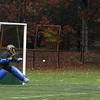 Oakmonts Meghan Fontaine gets a penalty shot by Nashoba's goalie Kate Crowley. SENTINEL & ENTERPRISE/JOHN LOVE