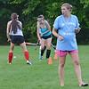 Kate DelleChiaie runs a St. Bernard's girls field hockey practice on Wednesday afternoon. SENTINEL & ENTERPRISE / Ashley Green