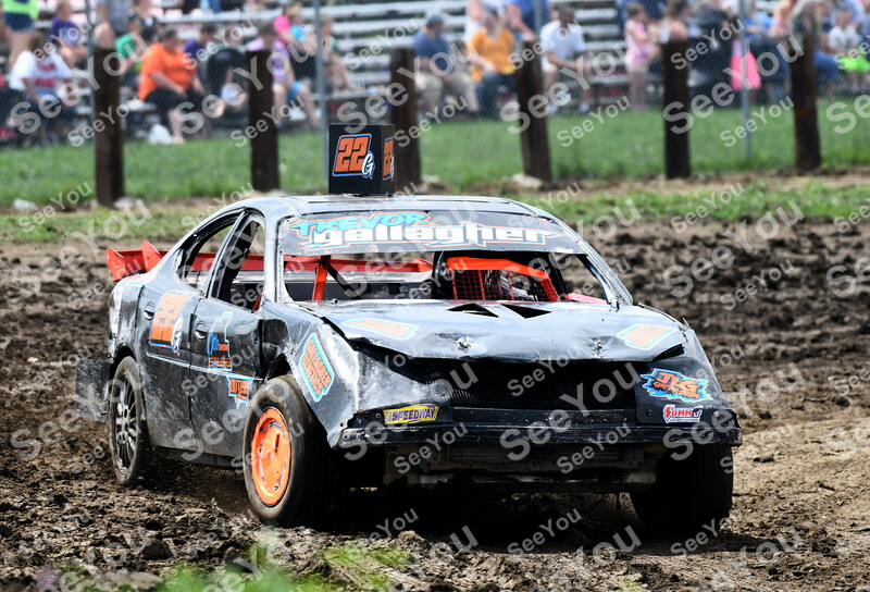 -Messenger photo by Britt Kudla<br /> Trevor Gallagher of Fort Dodge compete during Webster County figure 8 races at the Fairgrounds on Sunday