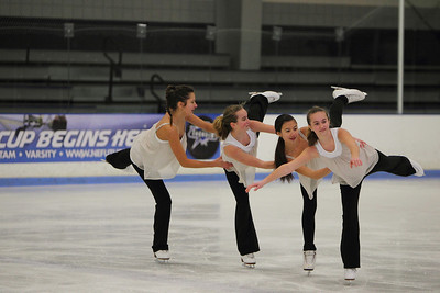 Skating to a live rendition of Silent Night by Betsy Goldberg are... Bethany Lee, Mary Grace Pier, Madison Goodrow and Elizabeth Pier