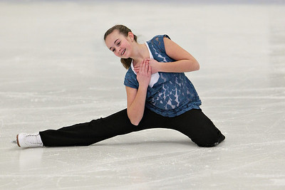 Soloist Elizabeth Piere... who took first in Free Style 4 in a recent competition