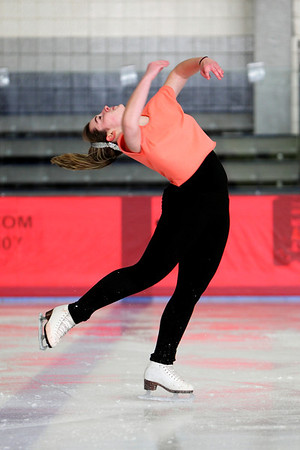 One of our top ranked skaters who recently passed her high level Free Stye 8 test and attends Lasell College is Collene Coughlin. She is skating to 'Mambo #5'.