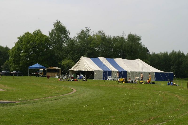 Great big tent, in case of rain