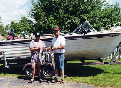 Fishing Valcour Island on Lake Champlain, 2002 June