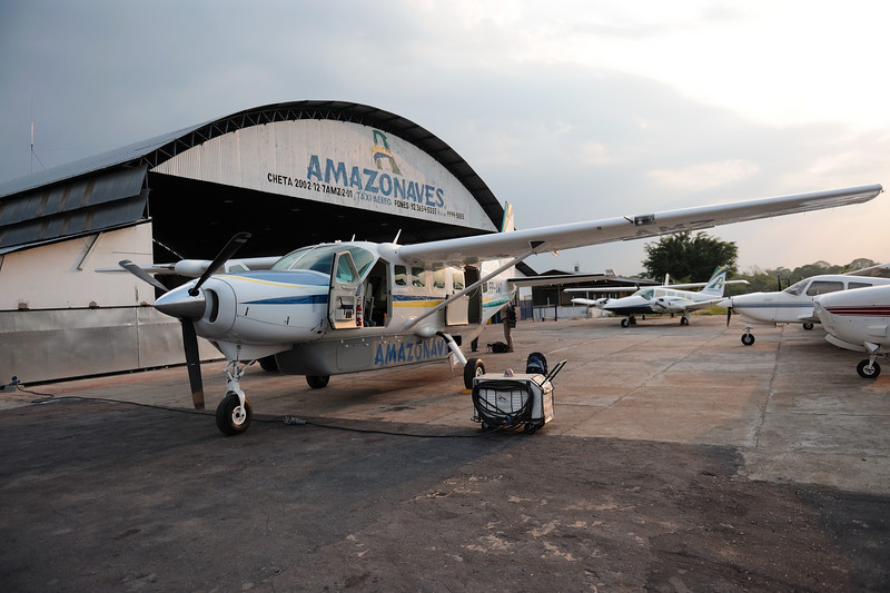 Preparing for the Charter Flight to the Agua Boa Amazon Lodge, 2009-11