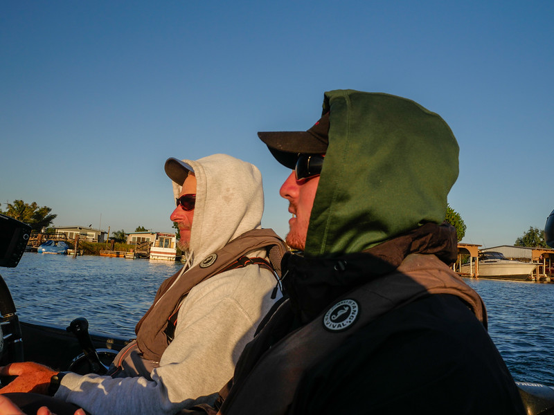 Bobby Barrack and Andrew departing Russo's Marina, Bethel Island, CA. August 4, 2016