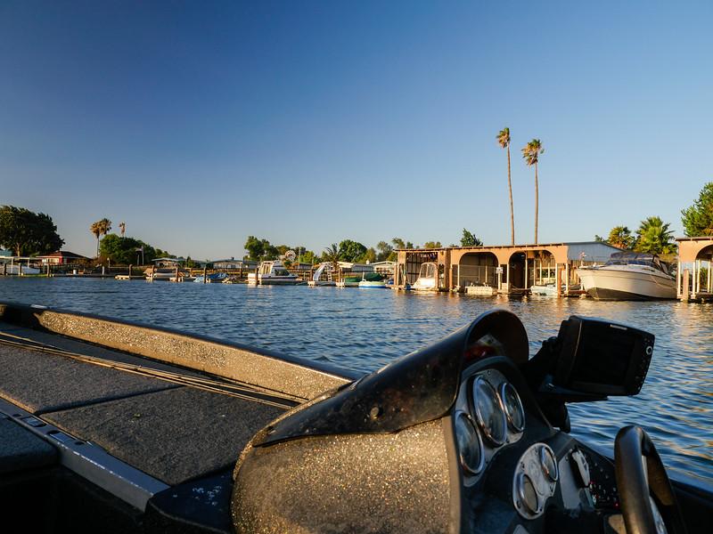 Departing Russo's Marina, Bethel Island, CA. August 4, 2016