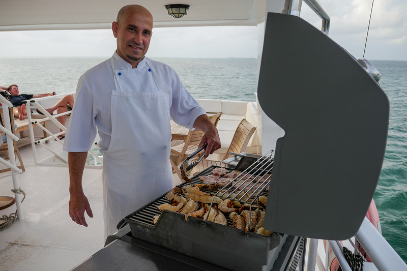 BBQing on the Avalon II, Gardens of the Queen, Cuba Fishing Trip 2016
