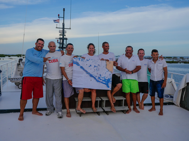 The Avalon II crew and guides, Gardens of the Queen, Cuba Fishing Trip 2016
