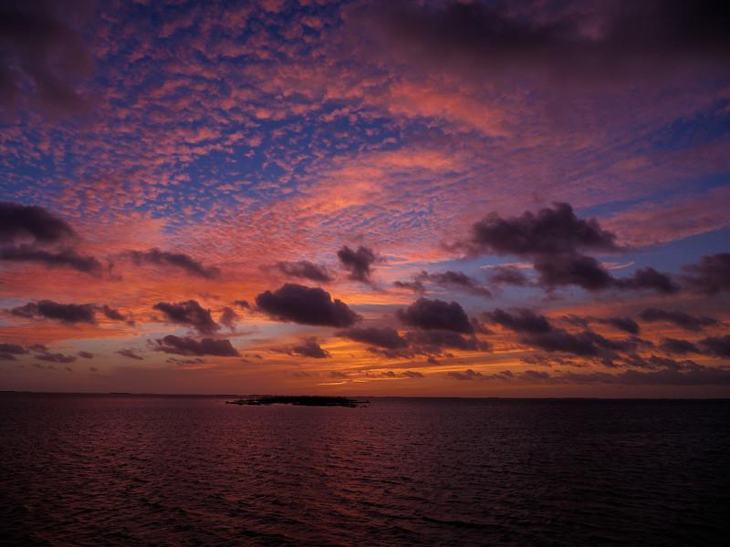 Sunrise, Gardens of the Queen, Cuba Fishing Trip 2016