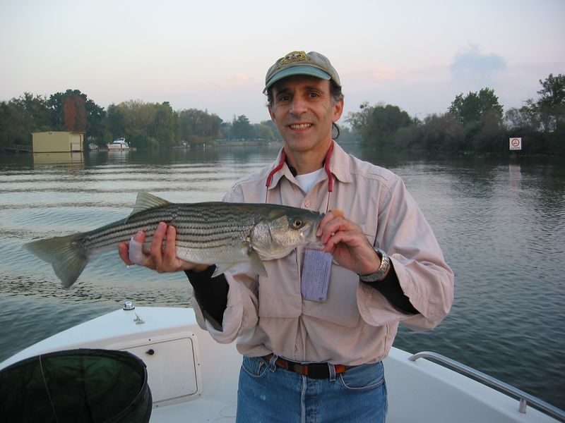 Fishing in 2004 with Mark Pinto in CA Delta